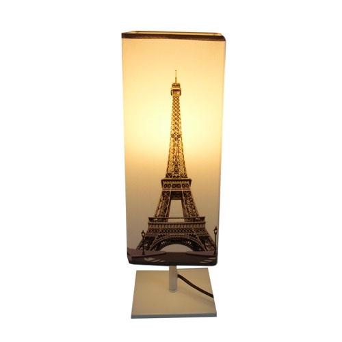 Abajur Quadrado Eiffel em Metal - 45x14 cm
