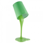 Abajur tinta escorrida verde