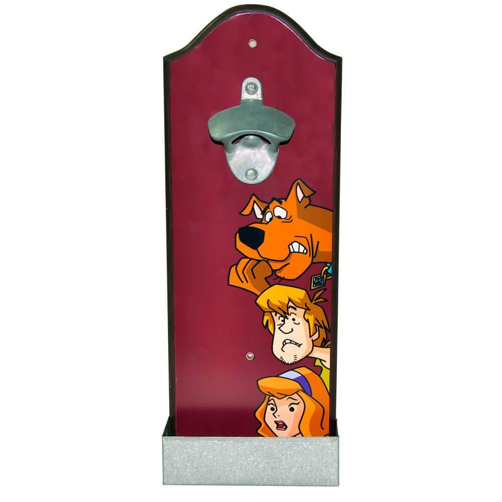 Abridores de Garrafas Hanna Barbera Scooby, Shaggy and Daphine Scared Marrom em Madeira - Urban - 36x14 cm