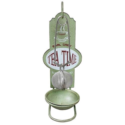 Acessório p/ Chá Tea Time Verde Oldway - 23x9 cm