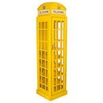 Adega Cabine Telefônica Grande Amarela Oldway em Madeira - 171x44 cm