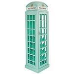 Adega Cabine Telefônica Turquesa Oldway - 15 Garrafas - em Madeira - 171x44 cm