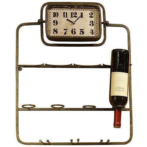 Adega Relógio de Parede Antique Oldway em Ferro - 58x46 cm