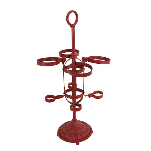 Adega Vertical Vermelha 4 Garrafas Oldway - 59x33cm