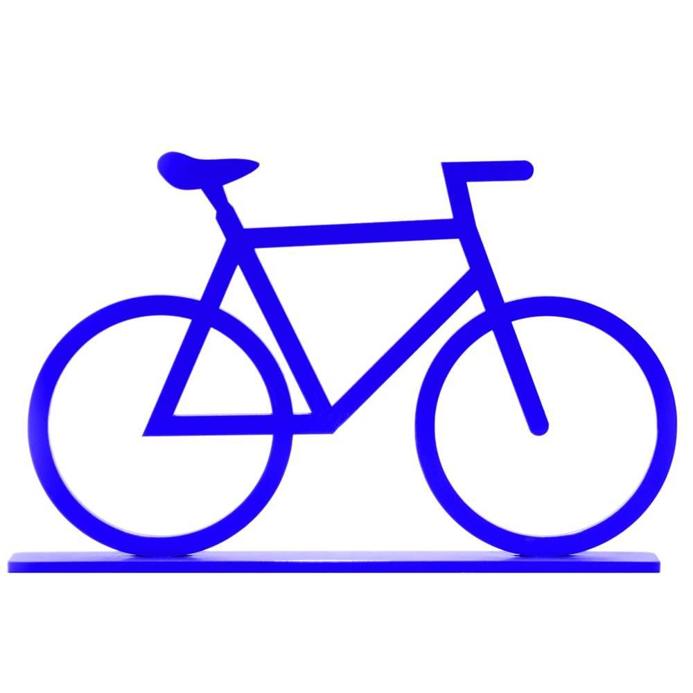 Adorno Bicicleta Azul em MDF Laqueado - Média - 23x14,2 cm
