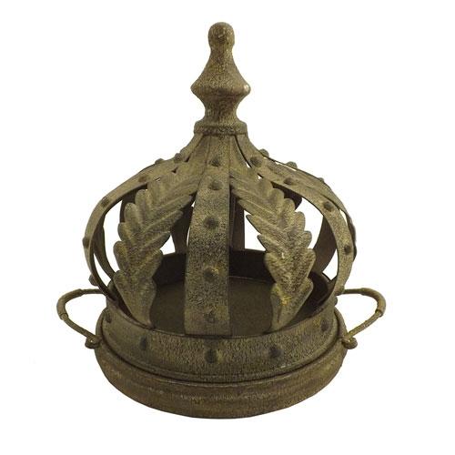 Adorno / Coroa para Mesa - Miniatura - Ferro  - 27x24cm