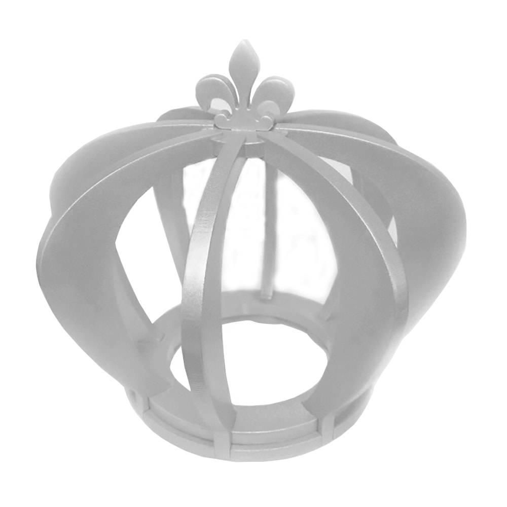 Adorno Coroa de Princesa Prata em MDF Laqueado - 32 cm