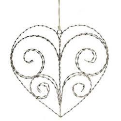 Adorno Decorativo Coração Aramado em Metal - 57x22 cm R$ 489,80 R$ 339,80 6x de R$ 56,63 sem juros