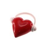 Adorno Decorativo Coração com Fone em Resina - 27x25 cm
