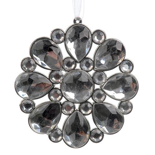 Adorno Decorativo Flor em Cristal - 9x9 cm