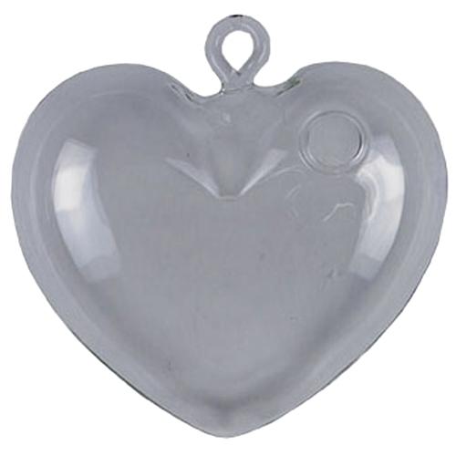 Adorno Decorativo Heart Glass em Vidro - 15x13 cm