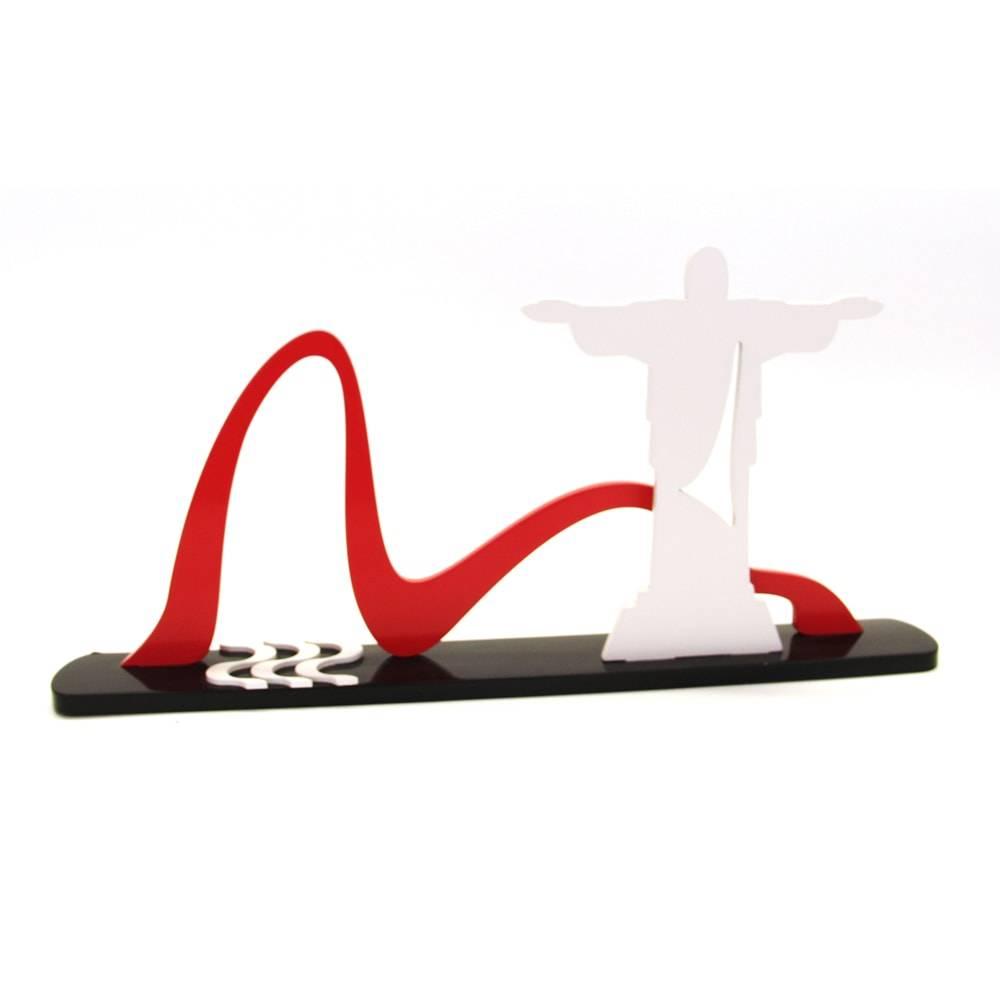 Adorno Rio de Janeiro - Pontos Turísticos em MDF Laqueado - 40x20 cm