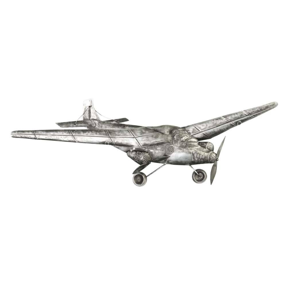 Aeronave Decorativa de Parede em Metal Média - Lyor Classic - 54 cm