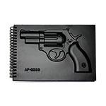 Agenda Capa Dura c/ Revolver em Alto Relevo