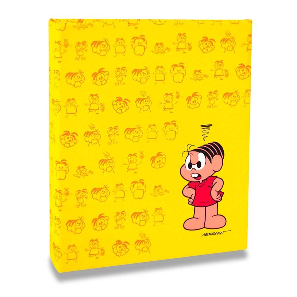 Álbum Amarelo Turma da Mônica - 80 Fotos 15x21 cm - Mônica - 22,6x17,2 cm