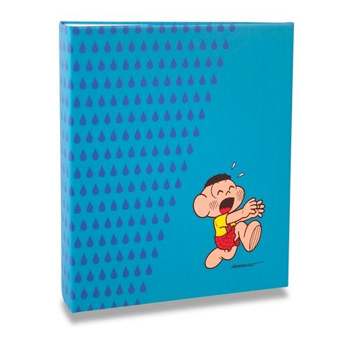Álbum Azul Turma da Mônica - 400 Fotos 10x15 cm - Cascão - 24,8x24,7 cm