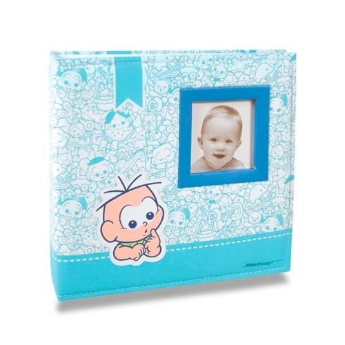 Álbum do Bebê Cebolinha - 200 Fotos 10x15 cm - em Tecido - 24,5x23 cm