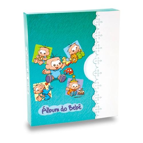 Álbum do Bebê Cebolinha - 60 Fotos 15x21 cm - com Caixa - 27x20,8 cm