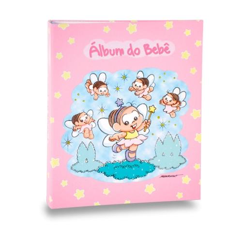 Álbum do Bebê Fada Mônica - 60 Fotos 15x21 cm - com Caixa - 27x20,8 cm