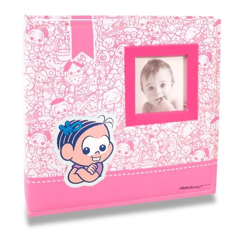 Álbum do Bebê Mônica - 100 Fotos 15x21 cm - com Capa em Tecido - 24,5x23 cm