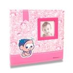 Álbum do Bebê Mônica - 200 Fotos 10x15 cm - em Tecido - 24,5x23 cm