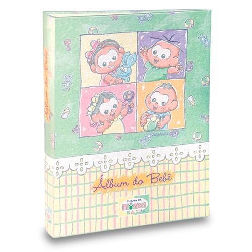 Álbum do Bebê Turma da Mônica - 40 Fotos 13x18 cm - com Caixa - 27x20,8 cm