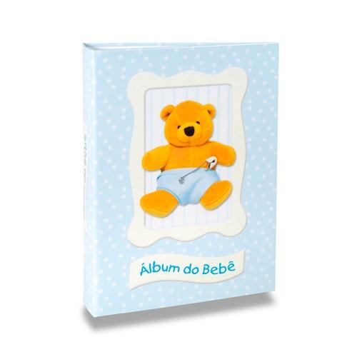 Álbum do Bebê Ursinho Azul - 120 Fotos 10x15 cm - com Solda - 24,3x18 cm