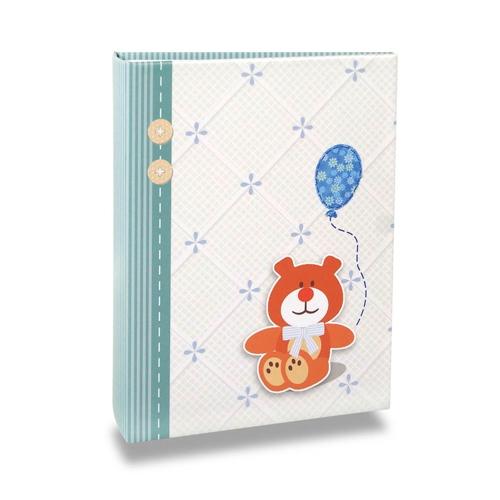 Álbum do Bebê Ursinho de Menino - 120 Fotos 10x15 cm - com Solda - 24,3x18 cm