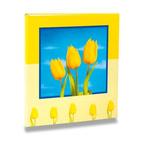Álbum de Fotos - 100 Fotos 15x21 cm - Flores Amarelas - 23,3x22 cm
