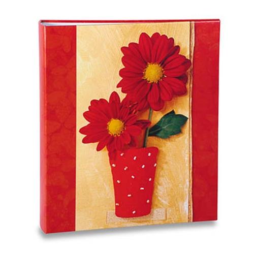 Álbum de Fotos - 100 Fotos 15x21 cm - Flores Vermelhas - 23,3x22 cm