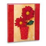 Álbum de Fotos - 100 Fotos 15x21 cm - Flores Vermelhas