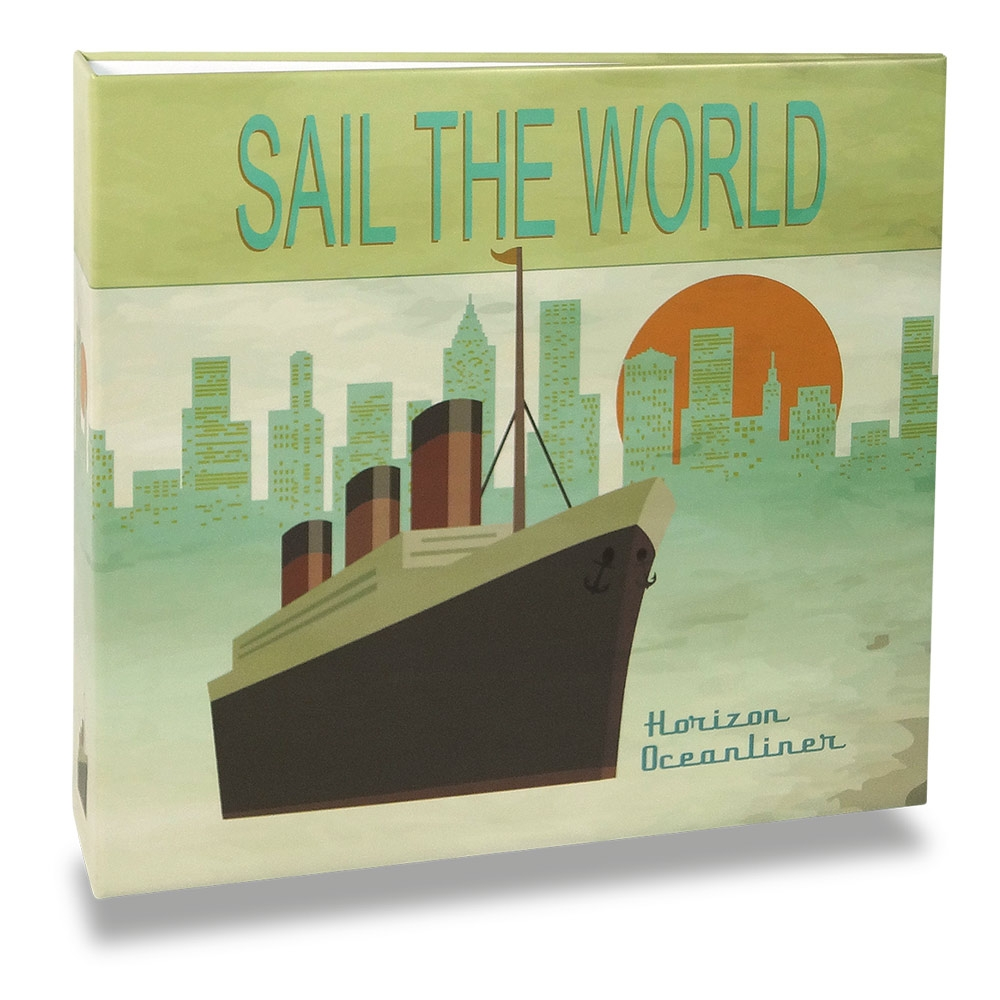 Álbum de Fotos - 100 Fotos 15x21 cm - Sail the World - 25,2x23 cm