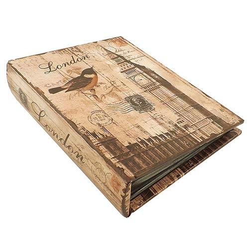 Álbum de Fotos Bird Big Ben Oldway Marrom - 200 Fotos 10x15 cm - 24x19 cm