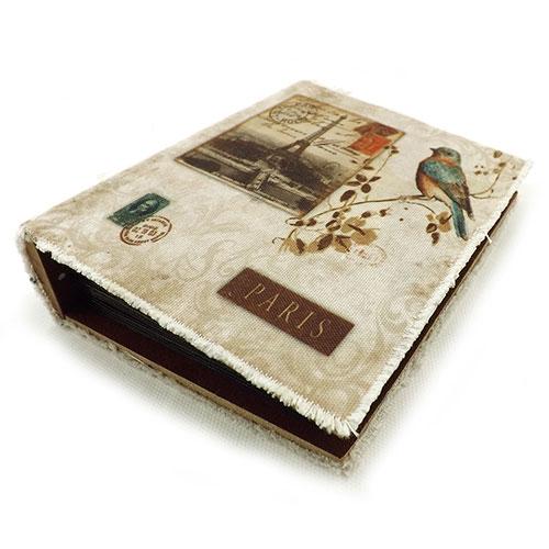 Álbum de Fotos Bird Paris Oldway - 80 fotos 10x15 cm - com Capa em Tecido - 18x14 cm