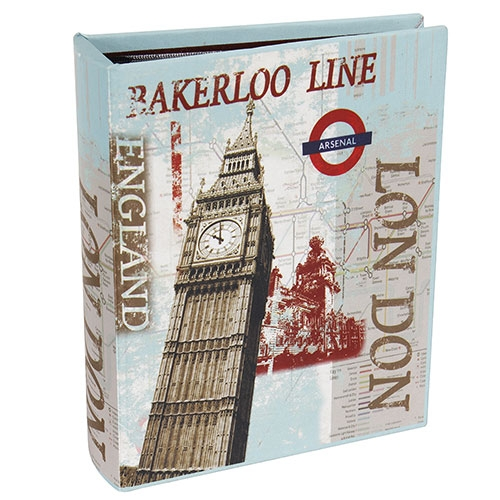 Álbum de Fotos London Big Ben Oldway - 200 Fotos 10x15 cm - com Capa em Seda - 24x19 cm