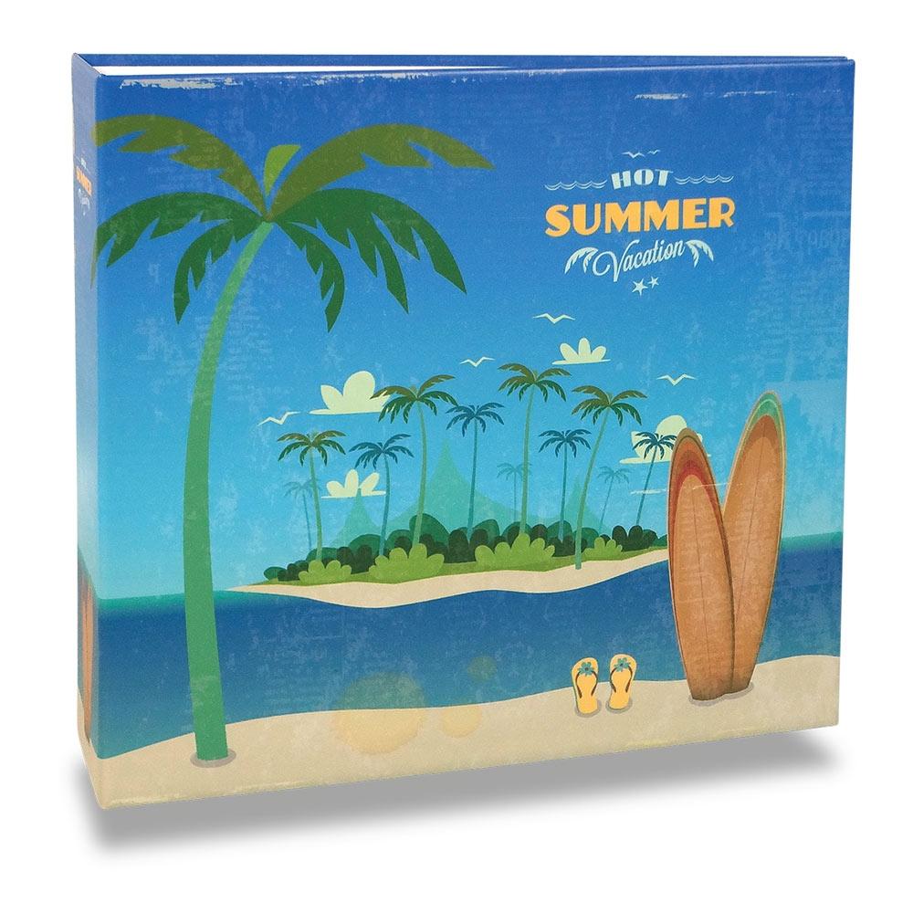 Álbum de Fotos - 150 Fotos - Summer Vintage - 25,2x23 cm
