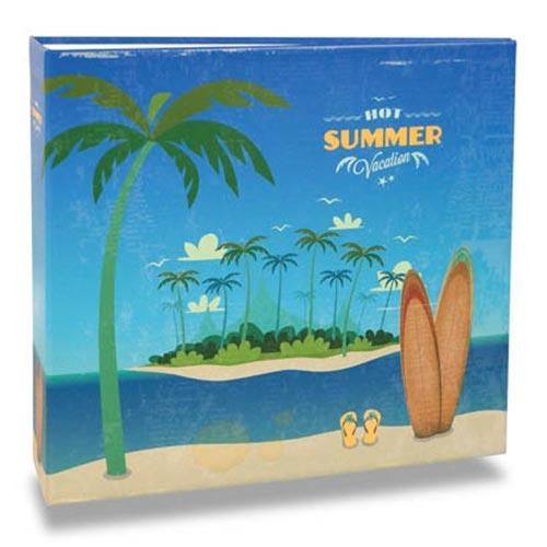Álbum de Fotos - 200 Fotos 10x15 cm - Summer Vintage - 25,2x23 cm