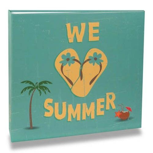 Álbum de Fotos - 200 Fotos 10x15 cm - We Love Summer - 25,2x23 cm
