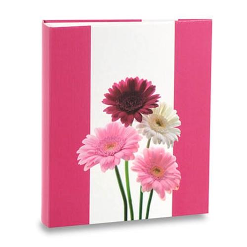 Álbum de Fotos - 400 Fotos 10x15 cm - Flores Rosas - 24,8x24,7 cm