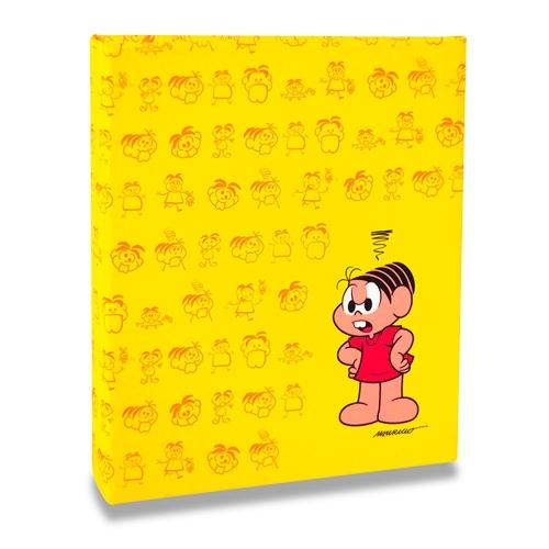Álbum de Fotos Amarelo - 240 Fotos 10x15 cm - Mônica - 24,2x18,1 cm