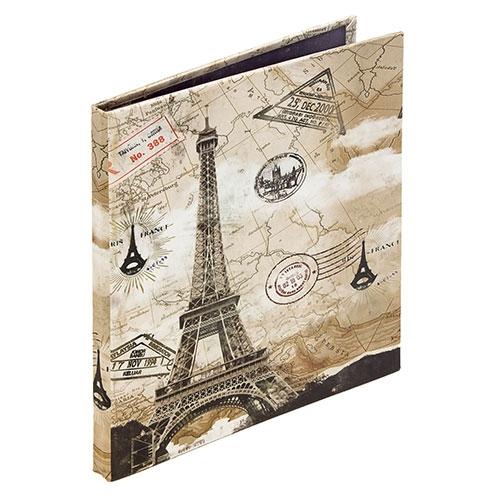 Álbum de Fotos Autocolante - 22 Páginas - Eiffel Carimbos Oldway - 25x24 cm