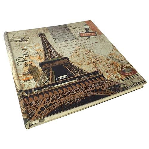 Álbum de Fotos Autocolante - 28 Páginas - Torre Eiffel Metro Oldway - 34x34 cm