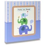 Álbum de Fotos Bebê Elefantinhos Azul - 120 Fotos 10x15 cm