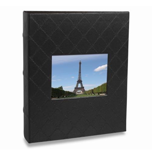 Álbum de Fotos Black - 100 Fotos 15x21 cm - Preto - 23x21 cm
