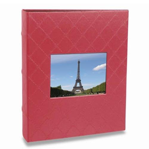 Álbum de Fotos Black - 100 Fotos 15x21 cm - Vermelho - 23x21 cm