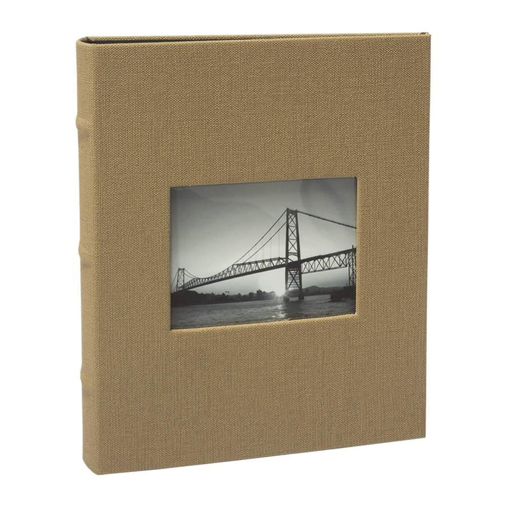 Álbum de Fotos Black Bege - 100 Fotos 15x21 cm - com Capa Vinílica - 23x21 cm