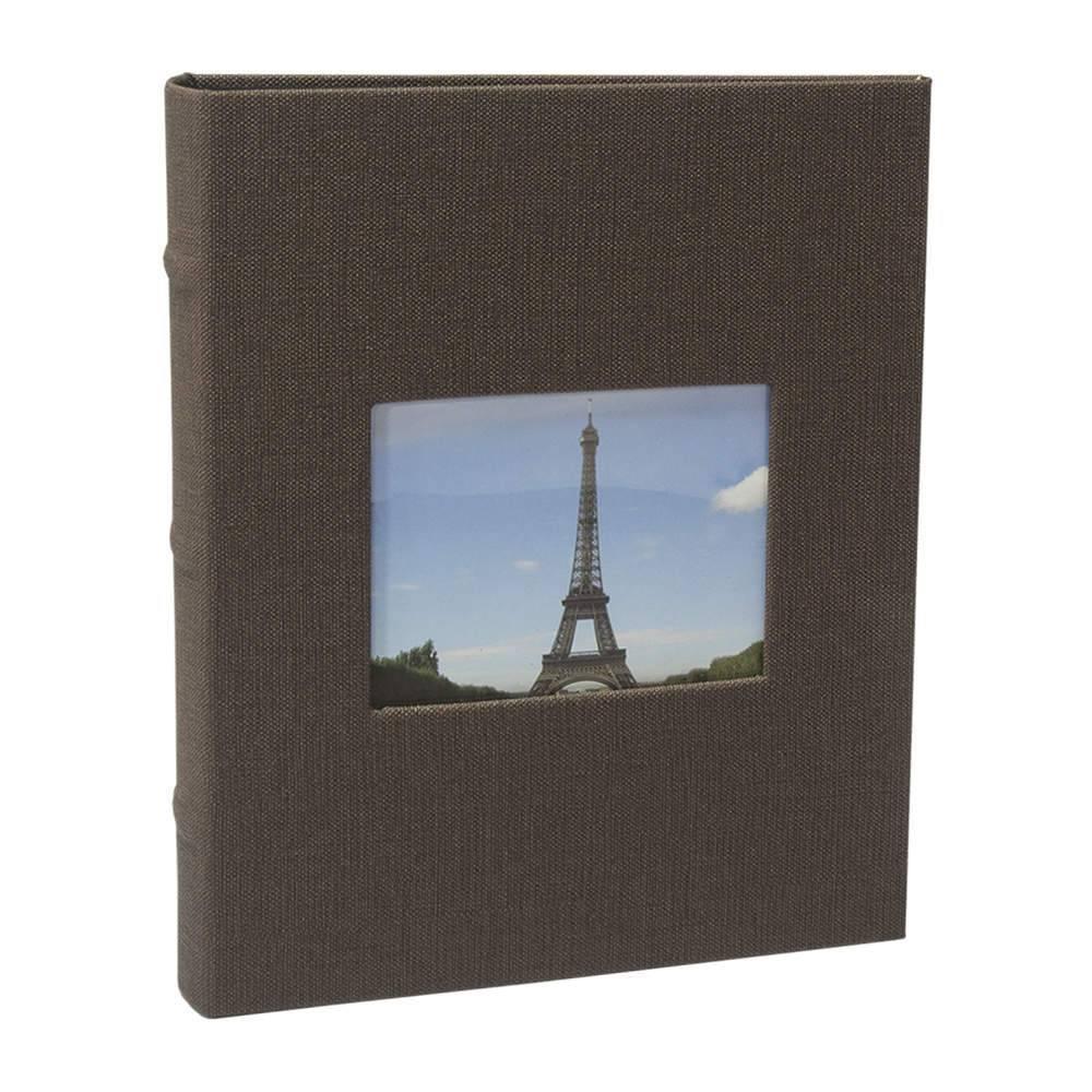 Álbum de Fotos Black Marrom - 200 Fotos 10x15 cm - com Capa Vinílica - 25x21 cm