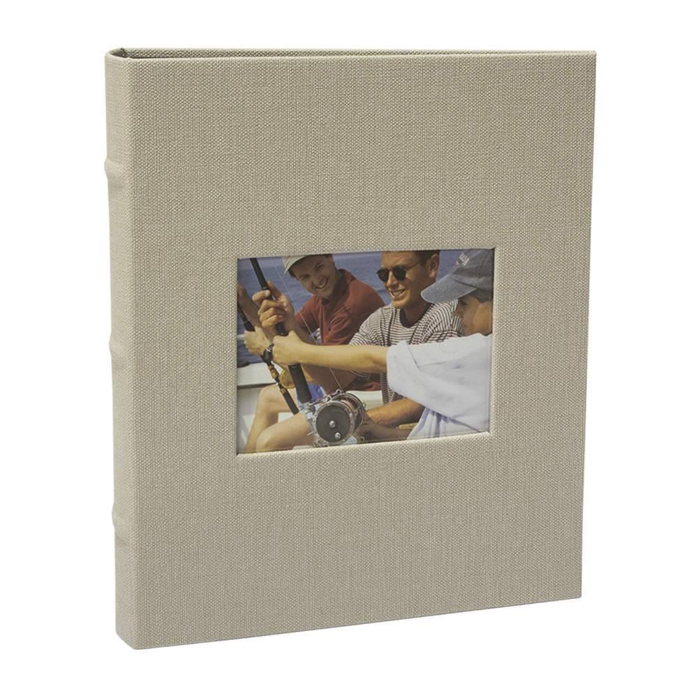 Álbum de Fotos Black Off-White - 200 Fotos 10x15 cm - com Capa Vinílica - 25x21 cm
