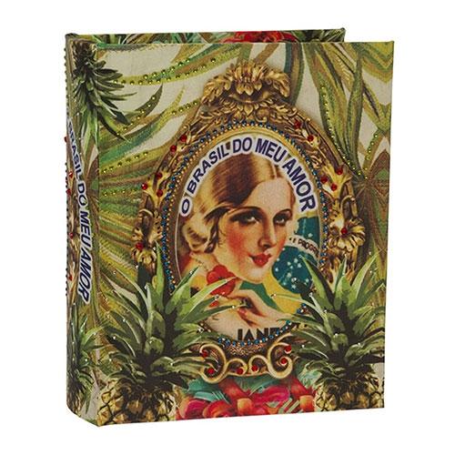 Álbum de Fotos Brasil Chic Abacaxi em Madeira - 24x19 cm