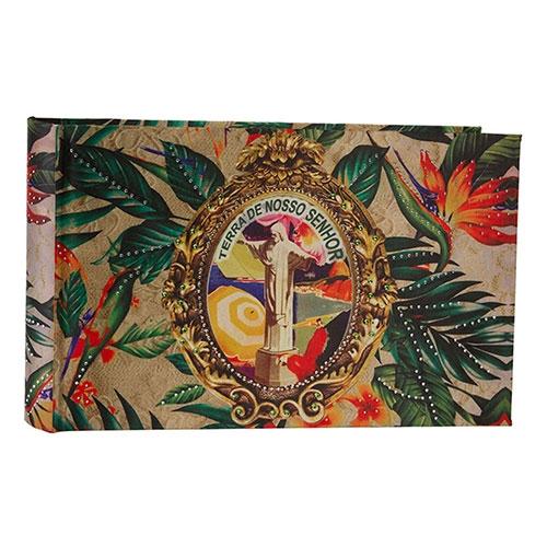 Álbum de Fotos Brasil Chic Cristo 192 Fotos 10x15 cm em Madeira - 36x24 cm